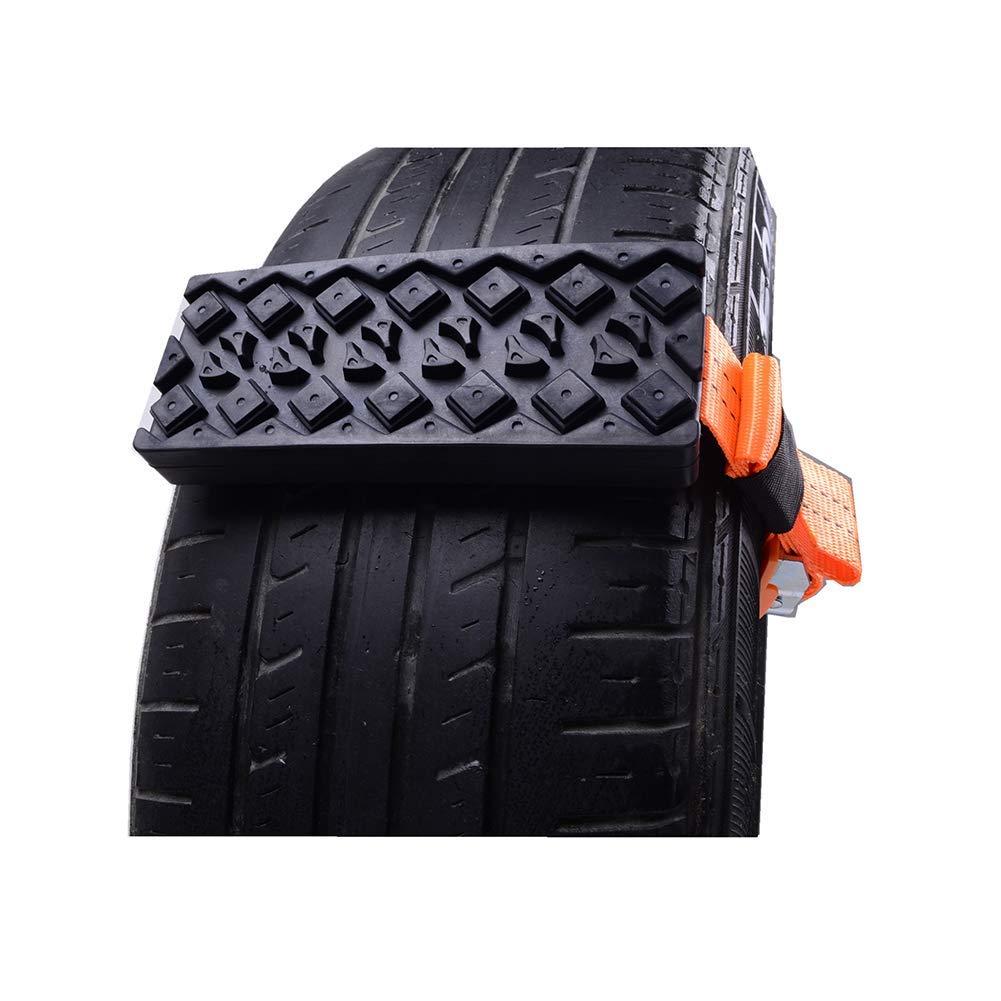 Coogel 2 Pcs Car Tire Anti-Skid Block,Emergency Snow Chain Car Vehicle Tire Anti-Skid Chain for Car Truck SUV Emergency Winter Driving