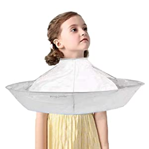 Hair Cutting Cape Umbrella, Foldable Haircut Cape,Waterproof Hairdressing Cape for Children, Teens and thin adults,A Haircut Cape to Keep The Room Clean, for Hair Stylist and Home Stylist Kingsmile
