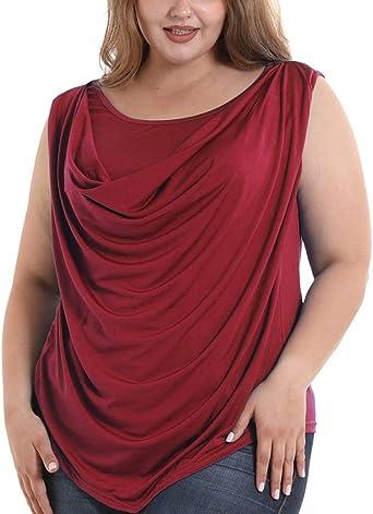 Camisetas Deportivas Mujer Ronamick Moda Mujer Blusa Dorada Mujer Tops Mujer Fiesta Lentejuelas Moda Mujer Camisa Roja Mujer (Vino,XXXXXXL): Amazon.es: Iluminación