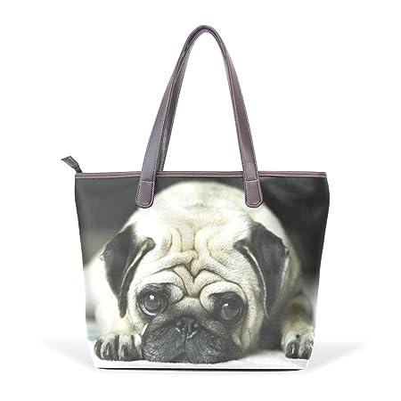 Large Pug Puppy Dog Design Ladies Purse