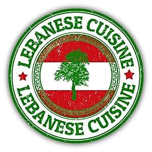 "Lebanon Flag Grunge Rubber Travel Stamp Sticker Decal Design 5"" X 5"""