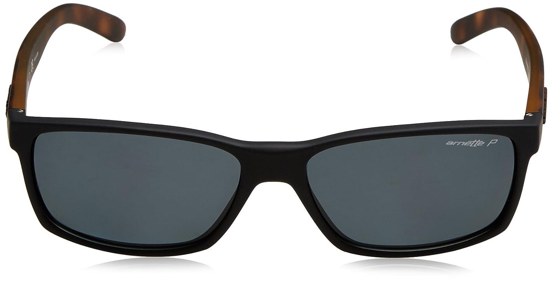 68fd5f784e4 Amazon.com  Arnette Men s Slickster Polarized Rectangular Sunglasses fuzzy  black 57.7 mm  Arnette  Clothing