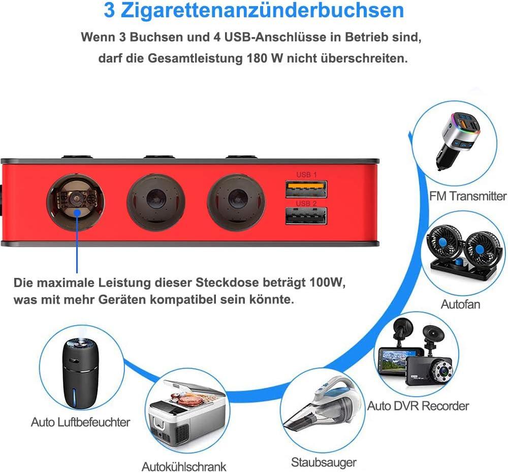 Sonru Car Splitter Qc 3 0 3 Compartments 180 W 12 V Elektronik