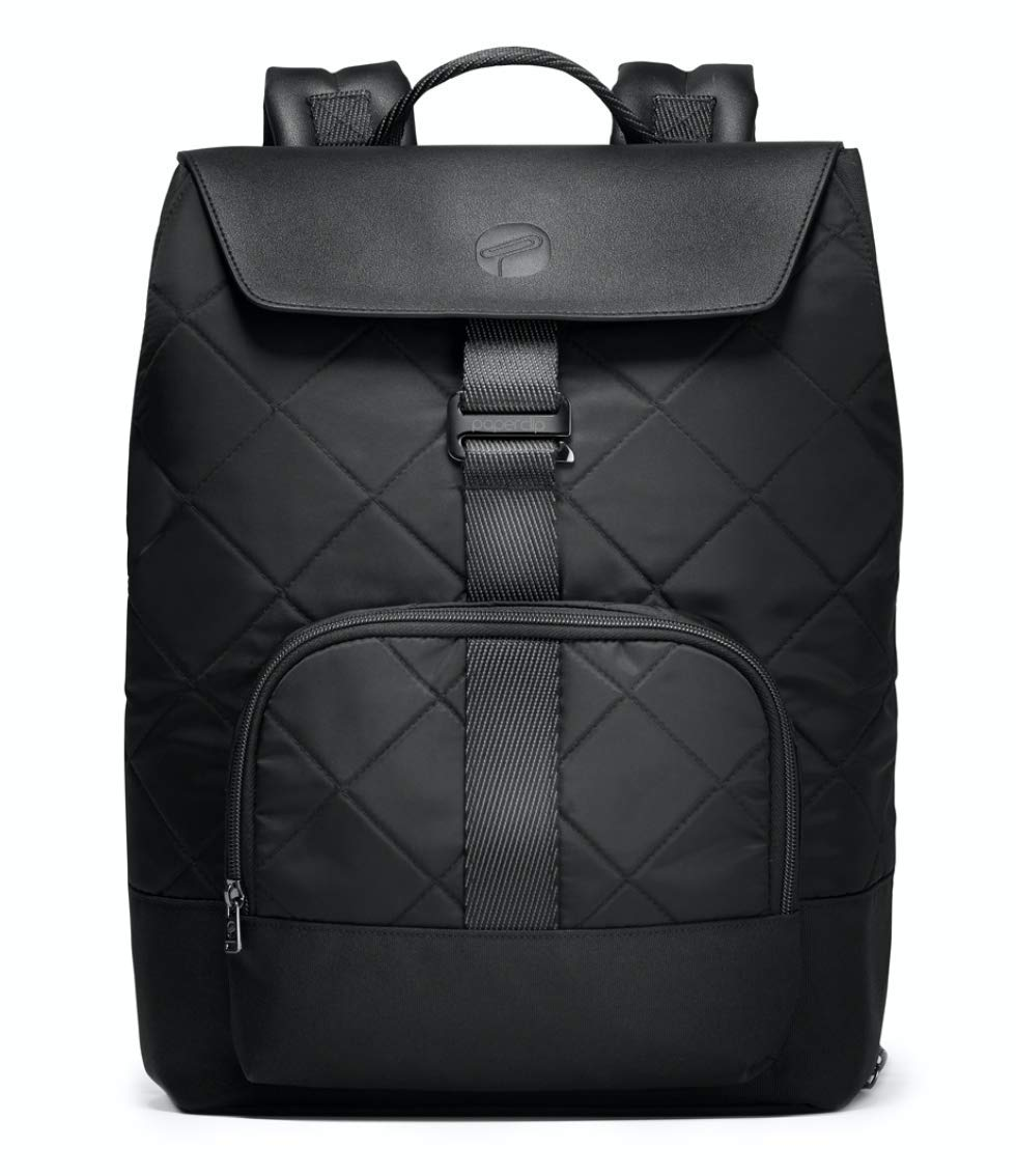 PAPERCLIP Quilted Diaper Bag Backpack Changing Pad - Large Capacity, Stylish, Multifunctional - Unisex Diaper Backpack