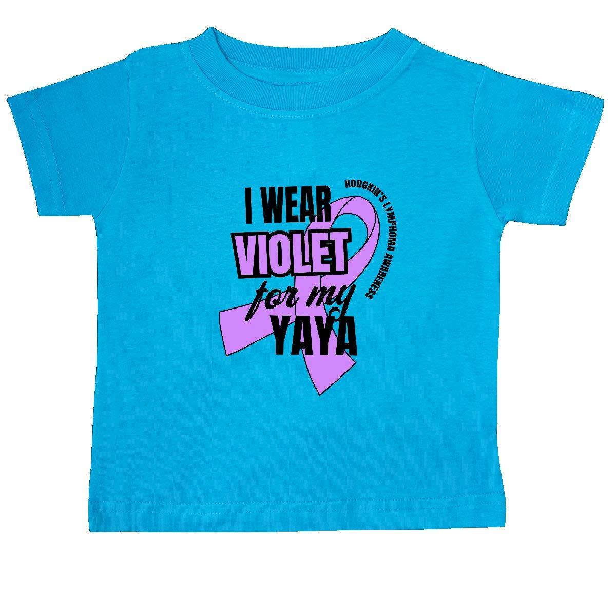 inktastic I Wear Violet for My Yaya Hodgkins Lymphoma Awareness Baby T-Shirt