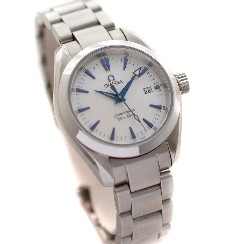 オメガ OMEGA シーマスター アクアテラ 2573.70 腕時計 シルバー レディース クオーツ ホワイトシェル文字盤 [中古] B07CR823BB