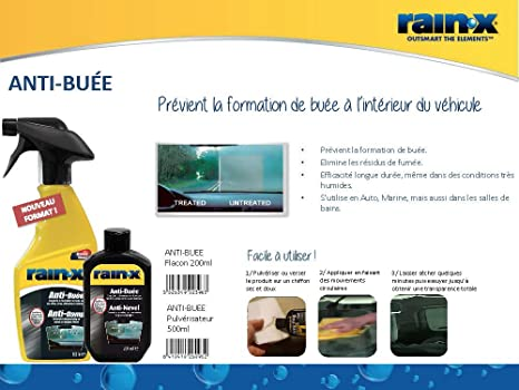 RainX 909 - Tratamiento RainX antivaho, 200 ml: Amazon.es: Coche y moto