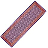 Table Runner Indian Art Silk Brocade Indigo Blue Home Decorative Items 14 x 54 inches