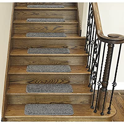 "Ottomanson Comfort Collection Soft Shaggy Non-Slip (9""X26') Shag Carpet Stair Treads Packs"