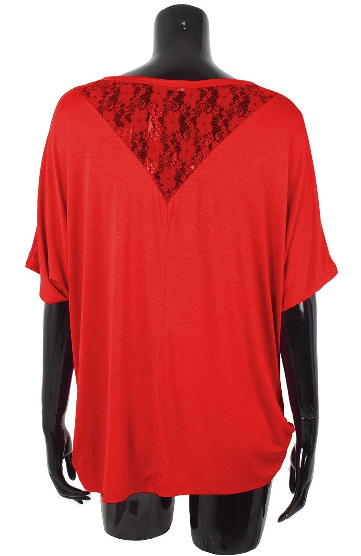 Donna T-Shirt con Pizzo a Manica a 3//4 Emma /& Giovanni