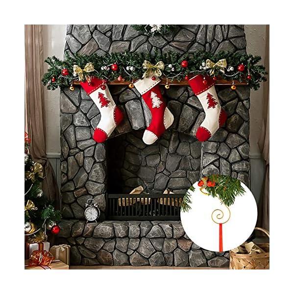 MELLIEX 120 Pezzi Natale Ornamento Ganci in Metallico S Ganci Appendini con Ornamento a Spirale per Ornamento dell'Albero di Natale 6 spesavip