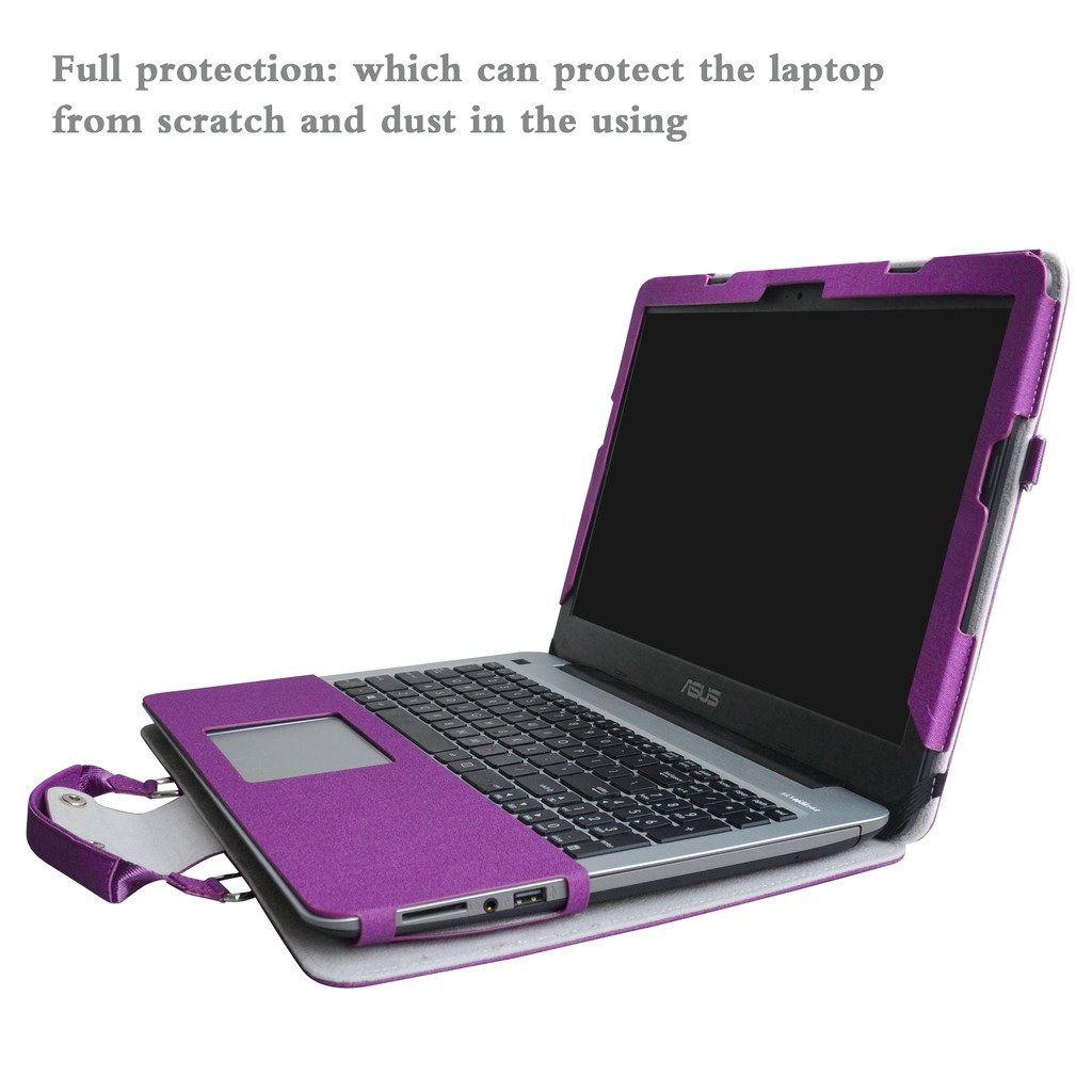ASUS X541SA X541NA X541UA Case,2 in 1 Accurately Designed Protective PU Leather Cover + Portable Carrying Bag for 15.6