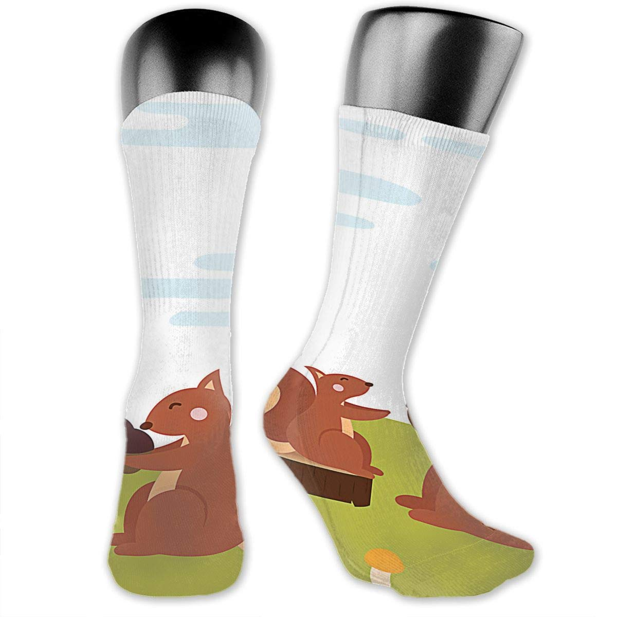 OLGCZM Animal Mom and Baby Men Womens Thin High Ankle Casual Socks Fit Outdoor Hiking Trail