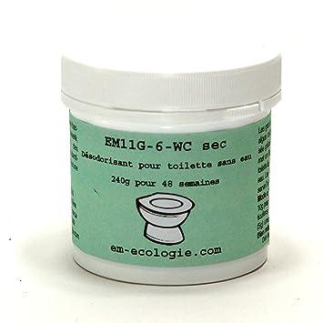 em-ecologie Désodorisant probiotique pour Toilettes sèches EM11G-6, Produit  sans Chimie, boîte de 240grpour 48 semaines
