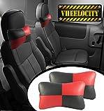 Retina RT998 Universal Car Neck Pillow (Set of 2, Red)