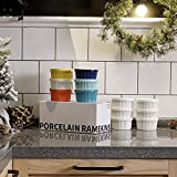 Sweese 501.003 Porcelain Souffle Dishes, Ramekins - 8 Ounce for Souffle, Creme Brulee and Ice Cream - Set of 6, Cool Assorted Colors