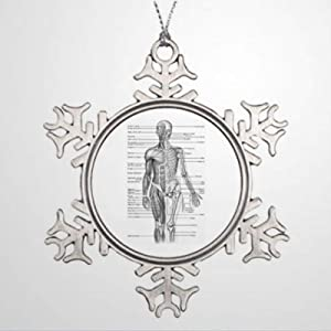 BYRON HOYLE Personalised Christmas Tree Decoration Human Anatomy Chart Xmas Tree Decorations Christmas Snowflake Ornaments Xmas Decor Wedding Ornament Holiday Present
