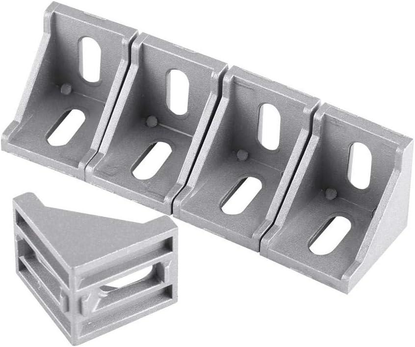 5pcs 4040 Aleación de aluminio en forma de L Escuadra de esquina ángulo recto Soporte de la esquina Sujetador 40x40mmx35mm<br/>