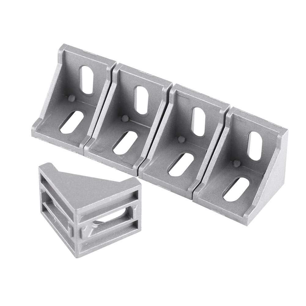 5pcs 3060 lega di alluminio a forma di L angolo brace angolo retto staffa di fissaggio 40x40mmx35mm Hilitand