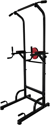 X-Factor Pull Up Power Tower 500 lbs Dip Chin Up Station w 4 Suction Cups Stabler Adjustable Height