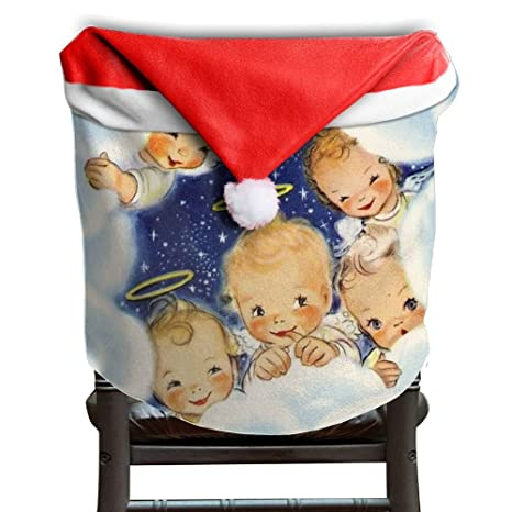 Bon Christmas Angels Christmas Chair Covers Cool Strong Santa Hat Chair Covers  For Family Chair Back Covers