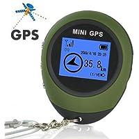 podofo Mini Portátil de Navegación GPS Receptor Portátil con Llavero para Viaje de Camping y Deportes al Aire Libre