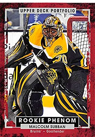 Amazon Com 2015 16 Upper Deck Portfolio 230 Malcolm Subban Rc