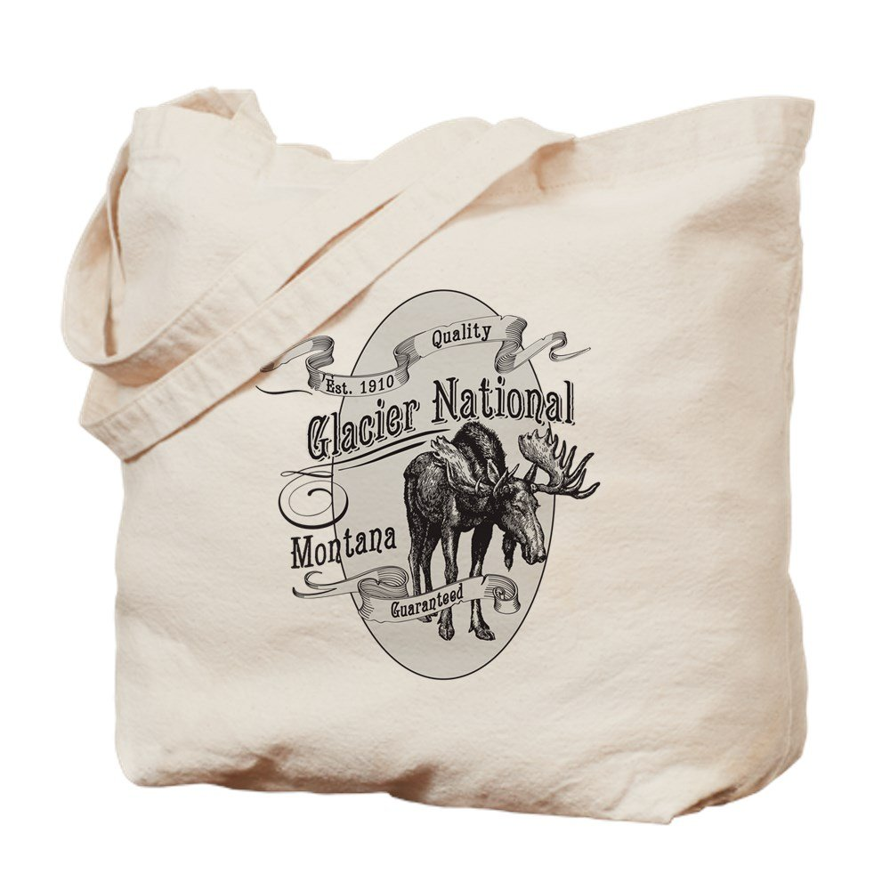 CafePress – Glacier Nationalヴィンテージムース – ナチュラルキャンバストートバッグ、布ショッピングバッグ B01JNJD802