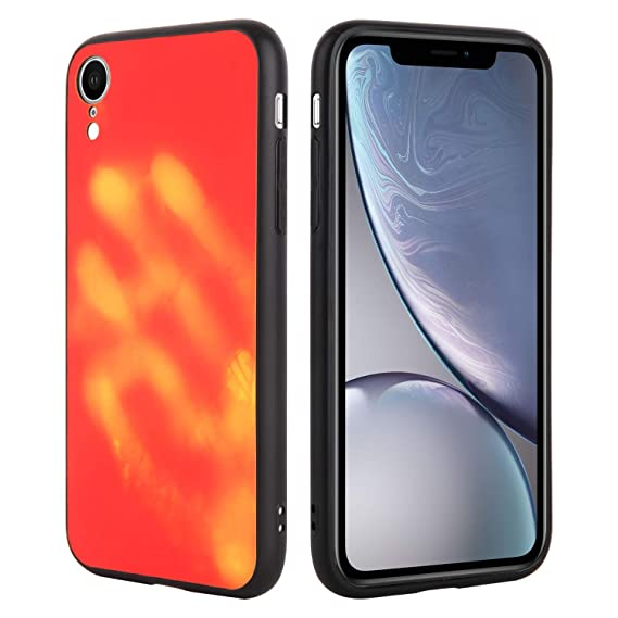 half off d712d cbb52 Seternaly Cool Thermal Case for iPhone XR (Color Changing Red to Yellow)