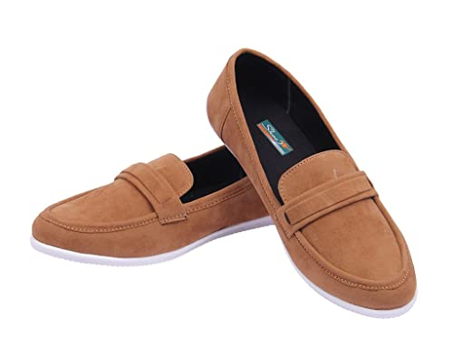 Goyal Tan Casual Loafers Men's Loafers   Moccasins