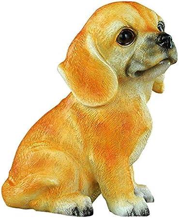 Animales para jardín Figurines para jardín Adornos Esculturas Estatuas Creativo Hucha Simulación Adornos para Perros Artesanías: Amazon.es: Hogar