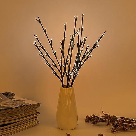 Led Ramas 3pcs 20 De Forma Bloomwin Luces Árbol Decorativas OPiwZkXuT