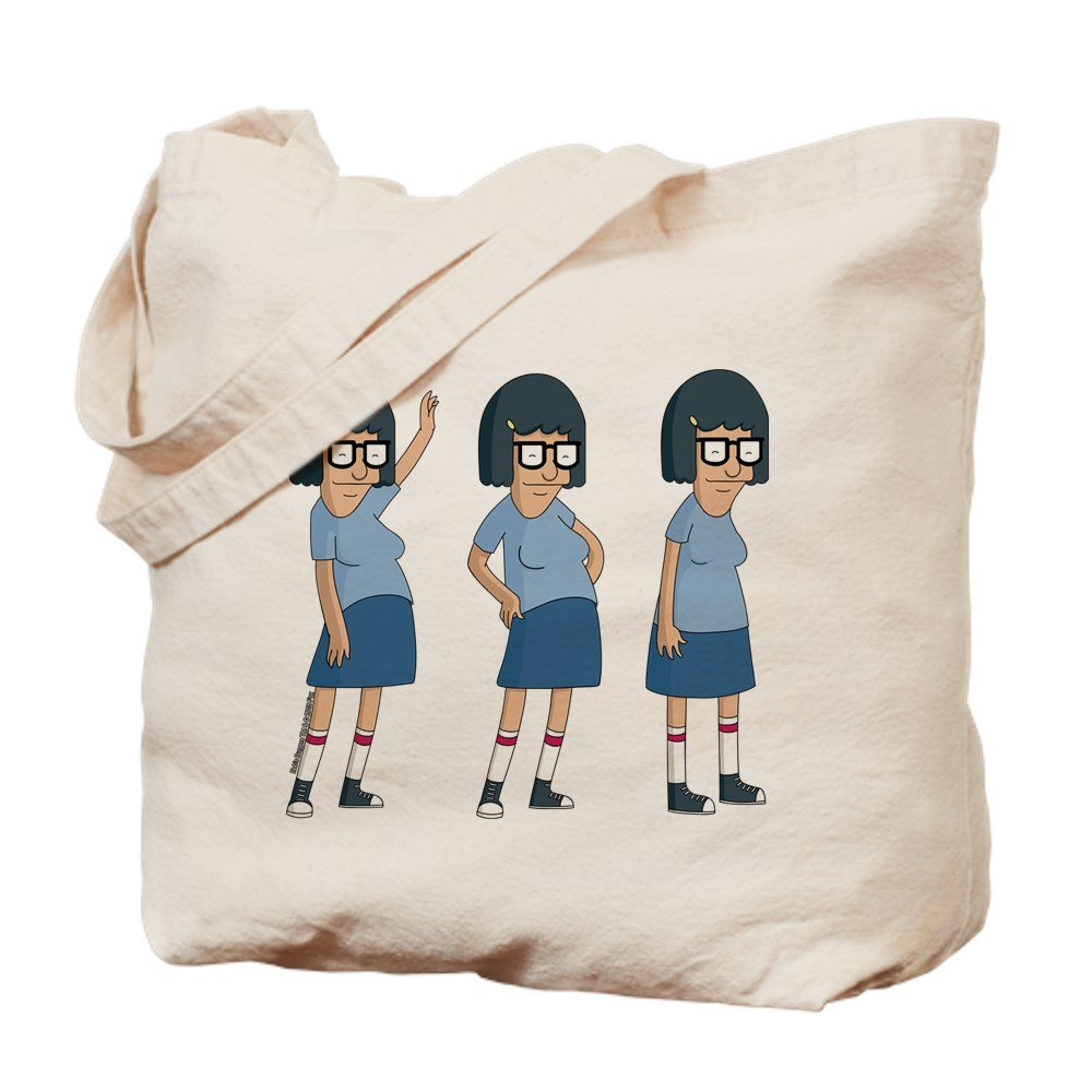 CafePress - Bob's Burgers Tina Dance - Natural Canvas Tote Bag, Cloth Shopping Bag