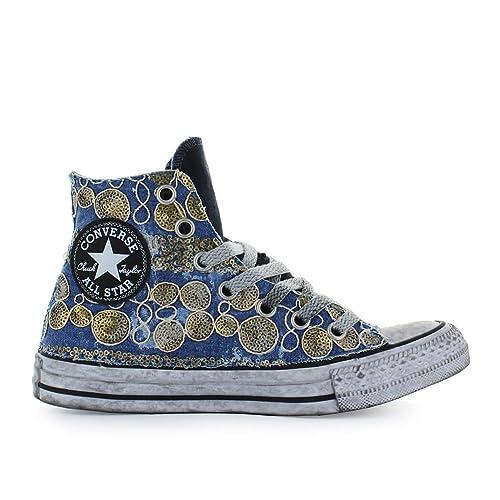 Zapatos de Mujer Zapatilla Converse Chuck Taylor All Star Ltd Ed Vintage Oro Primavera Verano 2018: Amazon.es: Zapatos y complementos