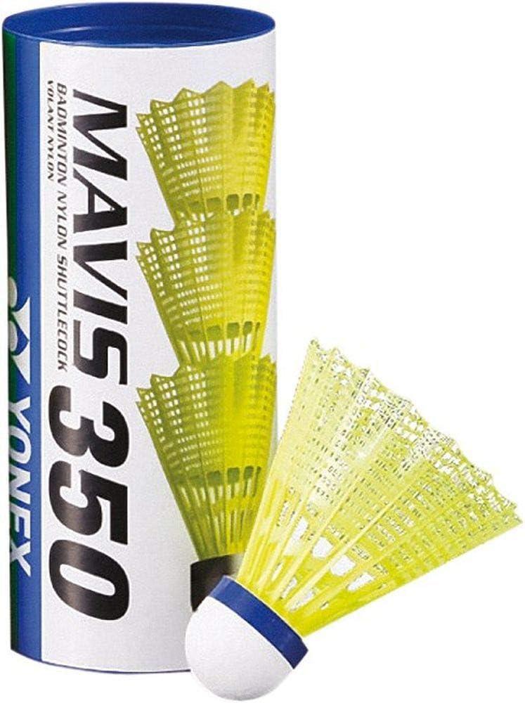 Yonex Mavis 350/Bo/îte 3/balles /à Badminton Nylon navettes Bleu Moyen M 350bp