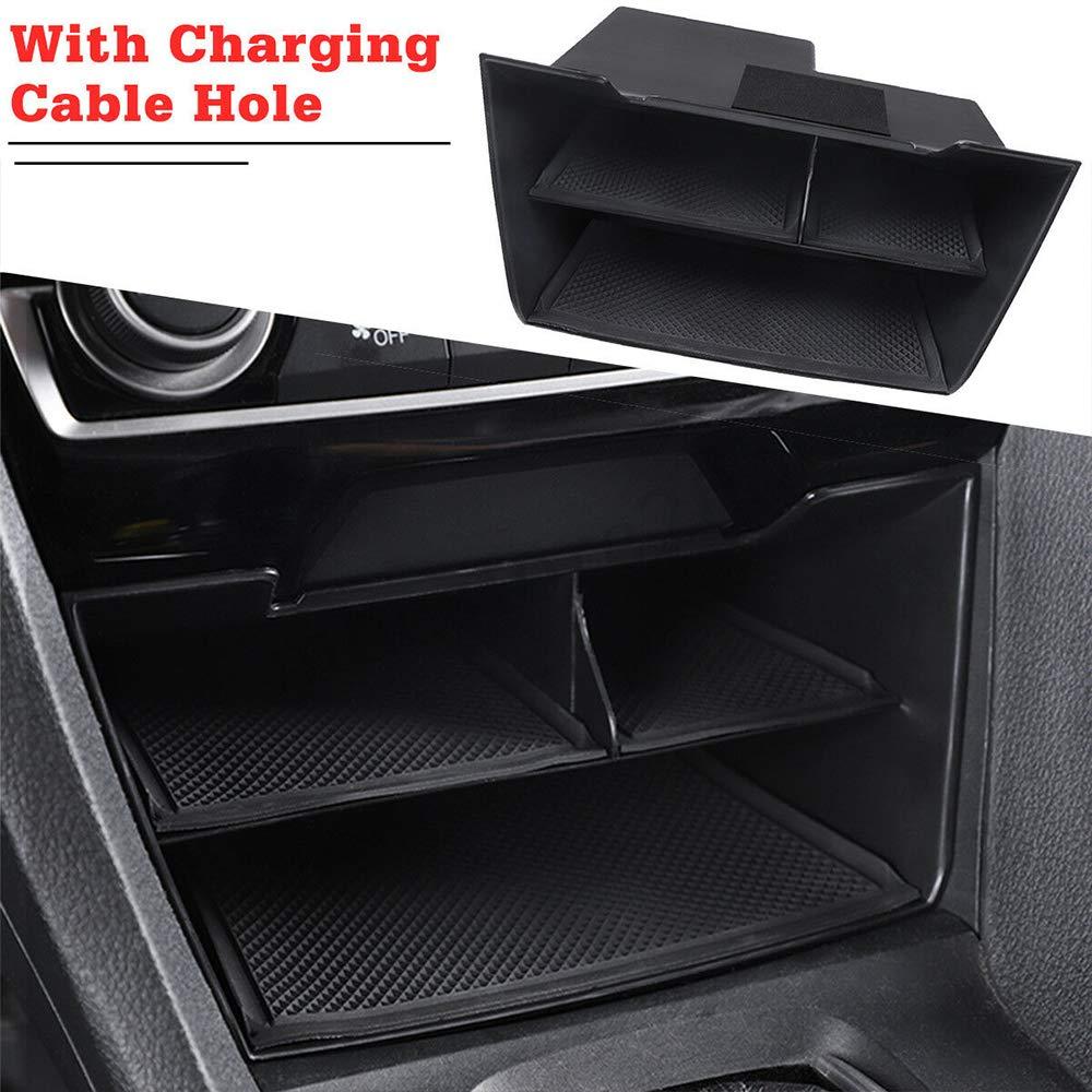 Auto Mittelkonsole Organizer Multifunktions Aufbewahrungsbox Fach Armlehne Container Fit f/ür Honda Civic 2016-2018