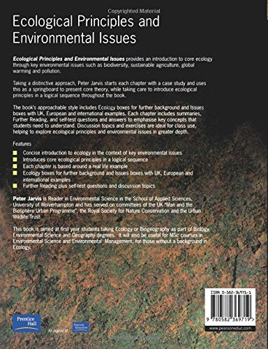 Ecological Principles and Environmental Issues: Amazon co uk: Peter