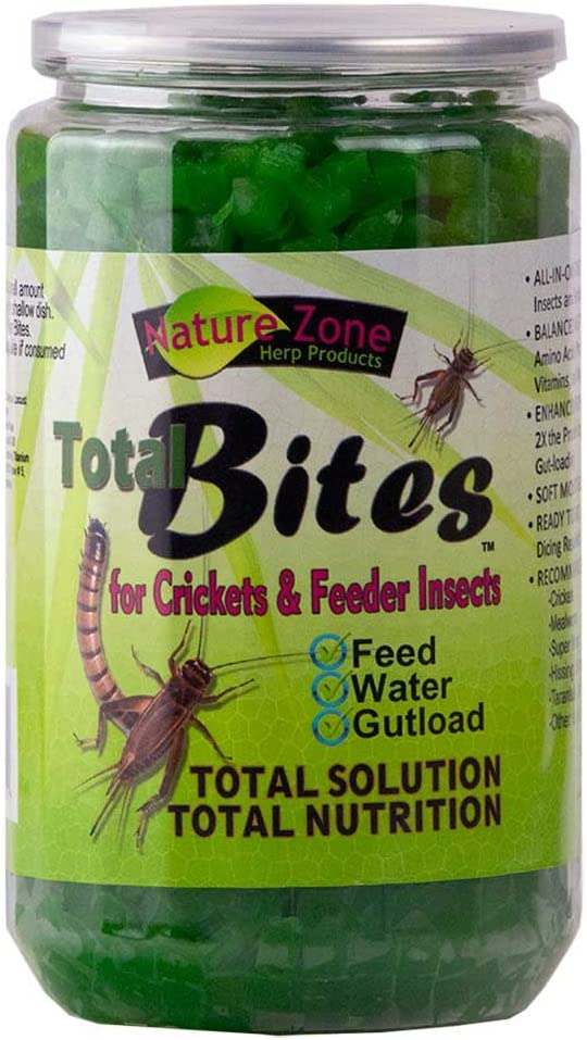 Nature Zone Total Bites for Crickets & Feeder Insects, Soft Moist Food, 24-Ounce