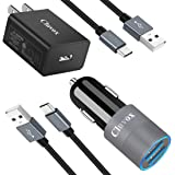 Fast Charger Set Compatible for LG G8 ThinQ/G7 ThinQ/Stylo 6/5/4, V60/V50/V40/V35 ThinQ, V30/V20/G6, Wall Charger + Dual…