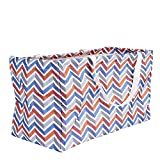 Household Essentials 2216 Krush Canvas Utility Tote | Reusable Grocery Shopping Bag | Laundry Carry Bag | Chevron
