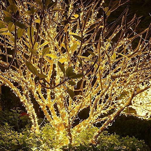GNBHCP Lichterketten Lichterketten, 100M 1000 LED-Lichterkette, Acht Polychromen Lichtfunktion, Innen- Und Außenweihnachtsbaumdekoration Serie Hochzeit (Color : White)