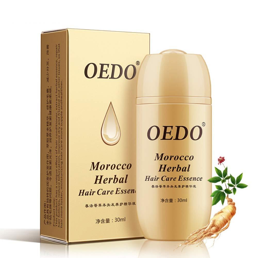 Luxsea Morocco Herbal Ginseng Hair Loss Fast Powerful Hair Growth Serum Repair Hair Root Ginseng Essence Oil Hair Care Essence Treatment for Men and Women