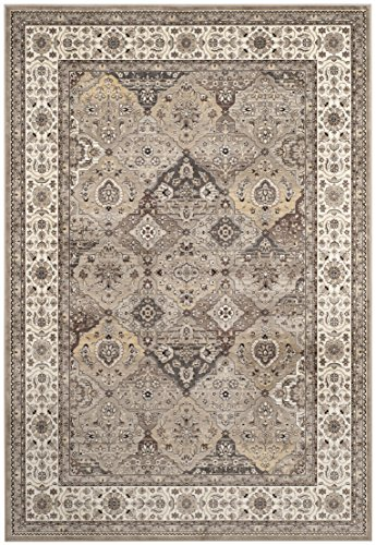 Safavieh Atlas Collection ATL673C Taupe and Ivory Oriental Viscose Area Rug (6'7