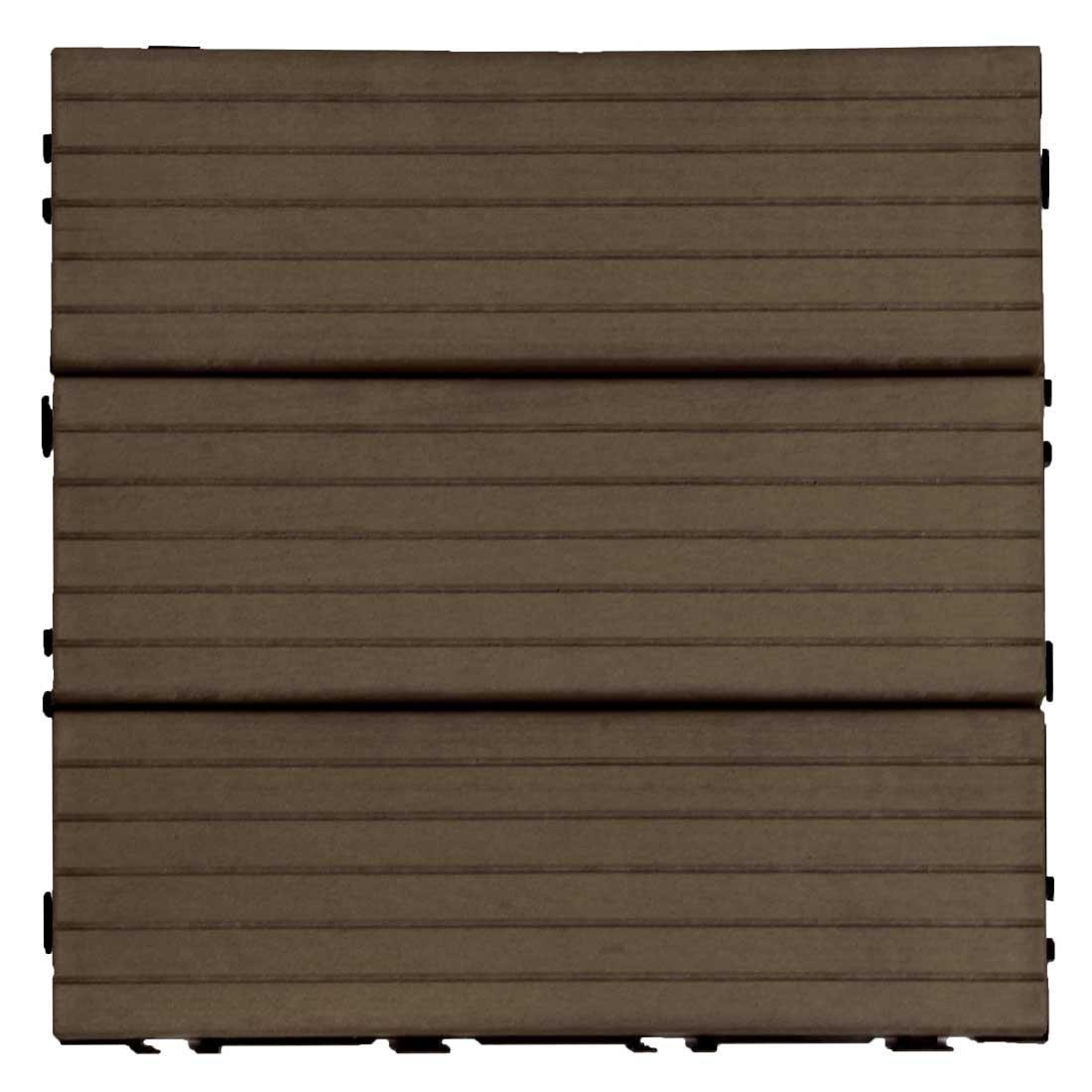 タンスのゲン ウッドパネル 樹脂 81枚セット 7.3平米用 ジョイント式 30×30cm 正方形 Bタイプ:ブラウン AM000088 07 B071XXXX3H 81枚セット|ブラウン(Bタイプ)