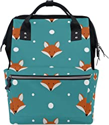 3c727db6e7 COOSUN Cute Foxes Patern Nappy Changing Bag Diaper Backpack with Insulated  Pockets Stroller Straps, Large