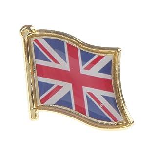 FLAMEER Union Jack Metal Spilla Distintivo Gran Bretagna / Regno Unito Bandiera Distintivo - #3