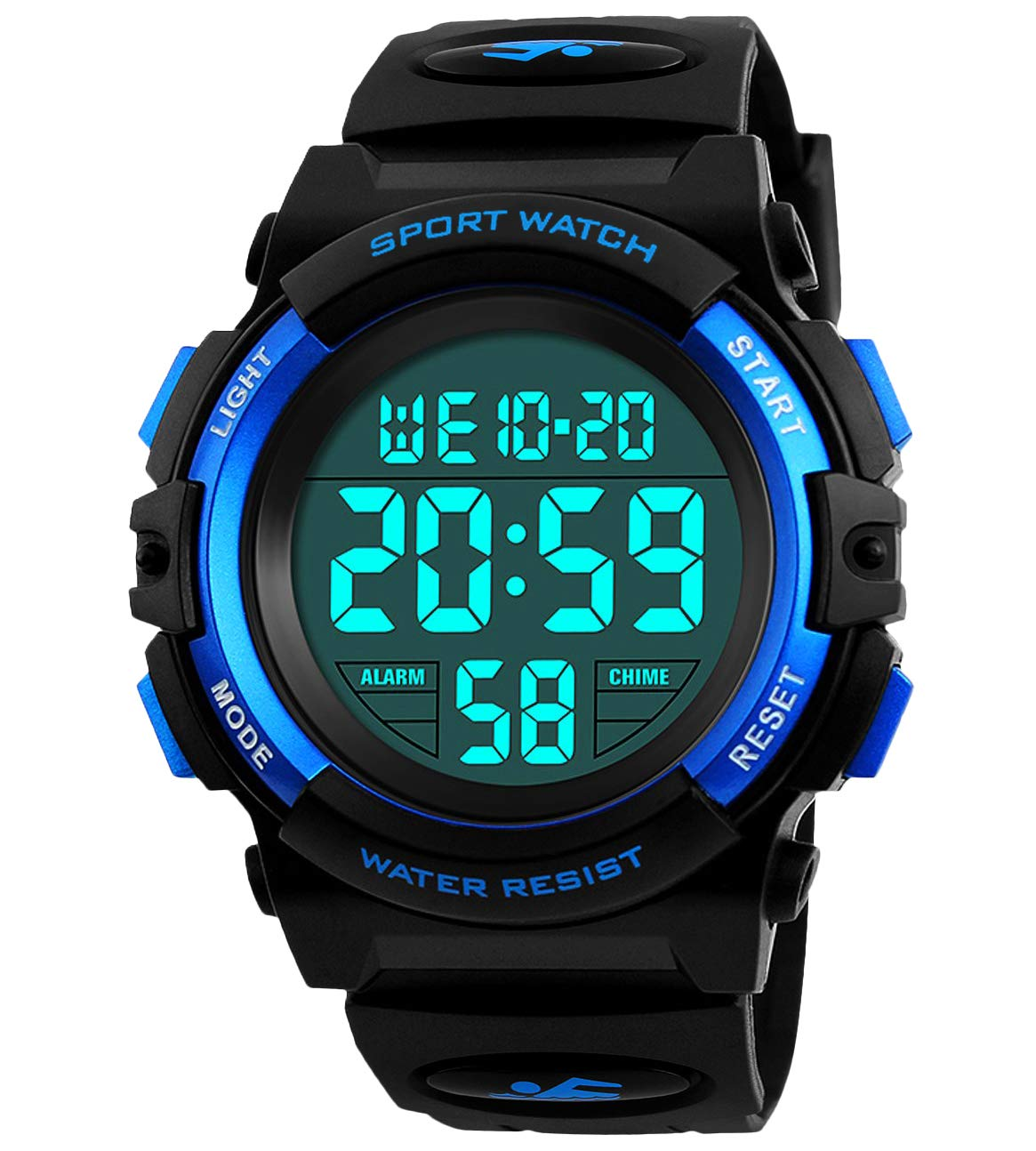 Kids Digital Watch, Boys Sports Waterproof Led Watches with Alarm Wrist Watches for Boy Girls Children