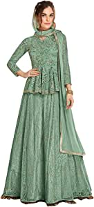 Green Short Kurti Sharara Punjabi Muslim Wedding Festival Frill Sleeves Salwar Kameez Suit Indian 7887 19