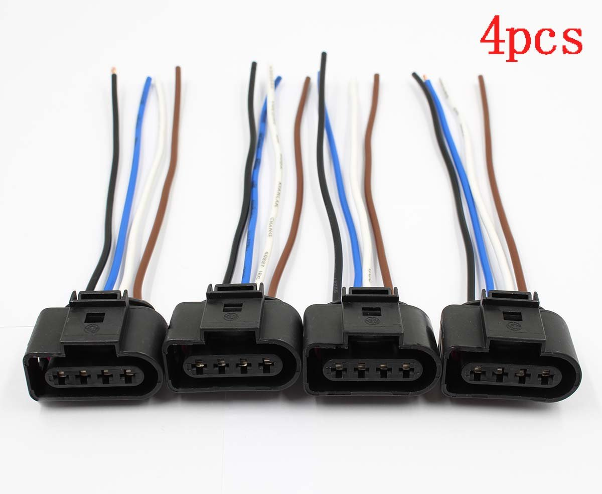 Autokay 4pcs Ignition Coil Connector Repair Kit Harness Audi Wiring Connectors Plug For Vw Jetta Passat Automotive