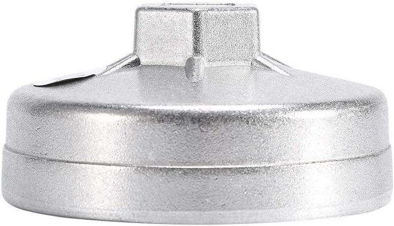 EVGATSAUTO 1 llave para filtro de aceite herramienta para quitar z/ócalos llave para filtro de aceite 14 flautas de aluminio 74 mm 903 color plat